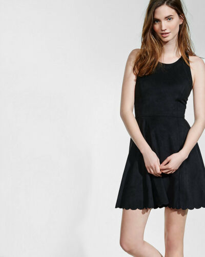 """NWT Express Faux Suede Skater Dress Sold out Value $80 SZ """"S"""""""
