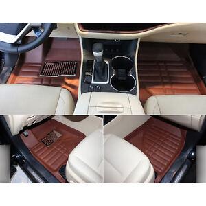new car inner foot mat pads cover 5 seat for toyota highlander 2015 ebay. Black Bedroom Furniture Sets. Home Design Ideas