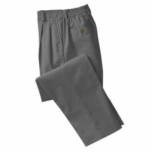 TRAVELSMITH 8-Days-a-Week Pleated Twill Pants CARBON