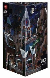 HY26127 - Heye Puzzles - Triangular , 2000 Pc - Castle of Horror, Loup