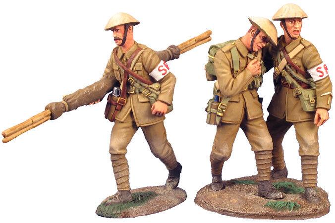 Britains Weltkrieg 1 23023 1916 Britische Infanterie Stretcher Diener Set  1 MIB