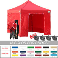 10 X 10 Ez Pop Up Canopy Tent Commercial Instant Gazebos With 6 Removable Sides