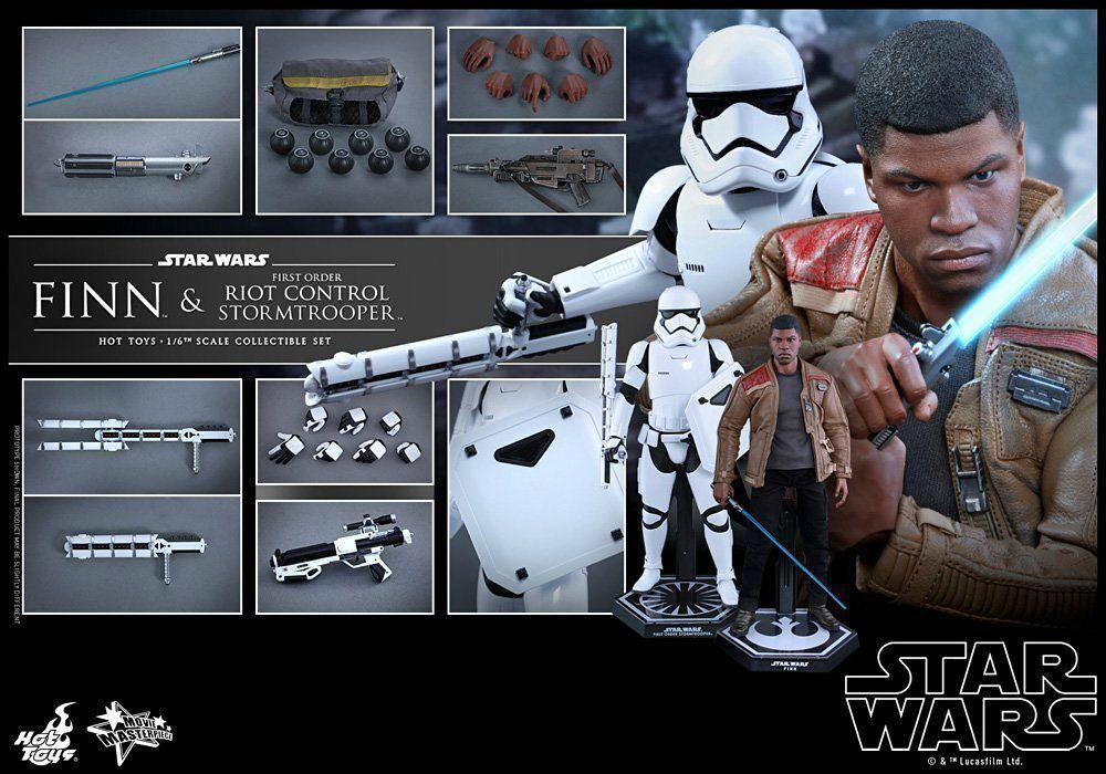 Figurine StarWars : Film Masterpiece Star Wars Finn & First Order Stormtrooper 1/6 Figurine Hot Toys