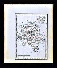 1841 Perrot France Map Department De Indre et Loire Tours Chinon Azay-le-Rideau