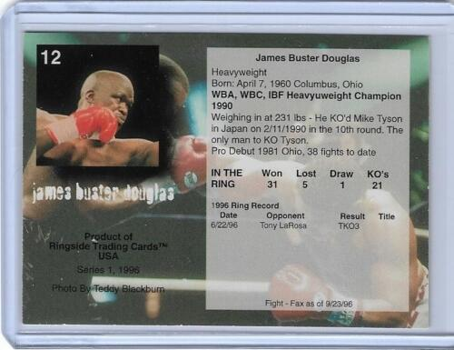 "1996 RINGSIDE JAMES /""BUSTER/"" DOUGLAS BOXING CARD #12 ~ MULTIPLES AVAILABLE"