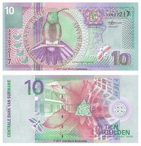 Surinam-10-Gulden-2000-P-147-Billetes-Unc