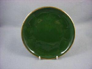 Apilco-Bistroware-Green-amp-Gold-Side-Plate