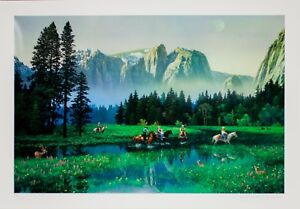 034-Yosemite-Cowboys-034-by-Alexander-Chen-Embossed-Serigraph-on-Paper-Signed-678-2250