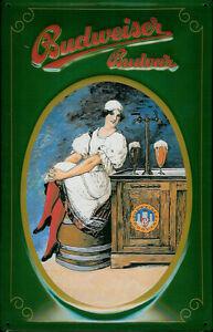 BUDWEISER-BUDVAR-Vintage-Metal-Pub-Sign-3D-Embossed-Steel-Home-Bar
