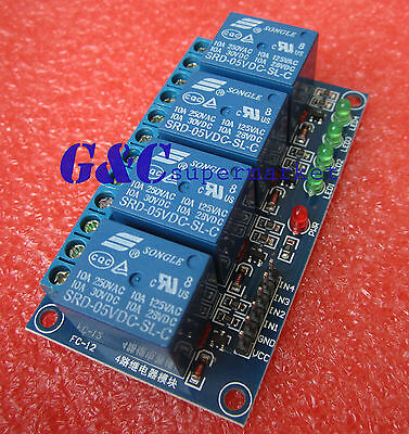 1pcs 5v 4 Channel Relay Module Indicator Light LED Arduino PIC ARM DSP AVR M65