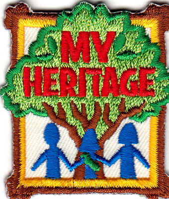 """""""MY HERITAGE"""" - HISTORY - BACKGROUND - IRON ON EMBROIDERED PATCH"""