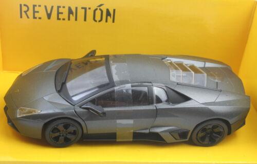 Lamborghini Reventon 1:24 Model Auto metal oscuro gris ca 19cm