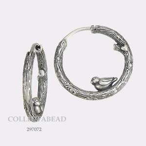 a8a419f69 Image is loading Authentic-Pandora-Sterling-Silver-Spring-Bird-Hoop-Earrings -