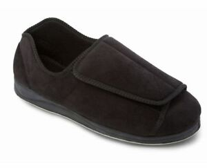 Black Fit nera Padders in Pantofole uomo In Mens Slippers Dual pelle da Wide qwIn8O7