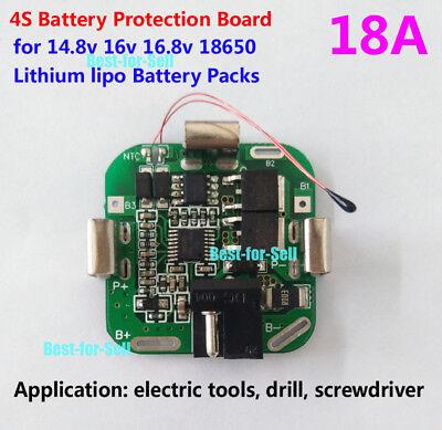 4S 20A 14.8V 16.8V Li-ion Lithium 18650 Battery BMS PCM Protection PCB Board Pr