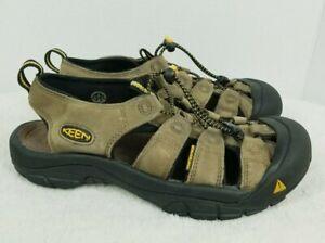 KEEN-Newport-Leather-Hiking-Sandals-110220-BISN-Brown-Men-039-s-9