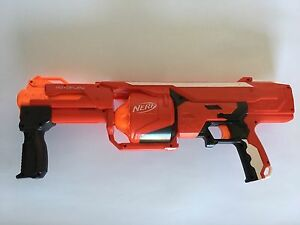 NERF Mega Series RotoFury Blaster Soft Dart Launcher with Rotating Chamber.