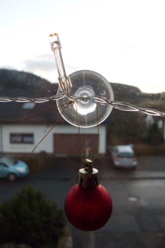 Bohrung Saugnapf Sauger Kabel Lichterketten 100 Saugnäpfe Ø 30 mm mit Schlitz
