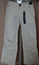 joli pantalon 3/4  femme blanc en lin HIGH USE TAILLE 36 modèle vigour TOUT NEUF
