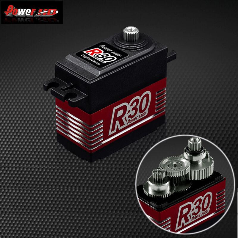 Potencia HD R30 30KG Alto Voltaje 6.0-7.4V Digital Servo para coches de radio control 1 8 1 10 Drift