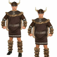 Deluxe Barbarian Viking Costume Ladies  Mens Warrior Fancy Dress Adult Outfit