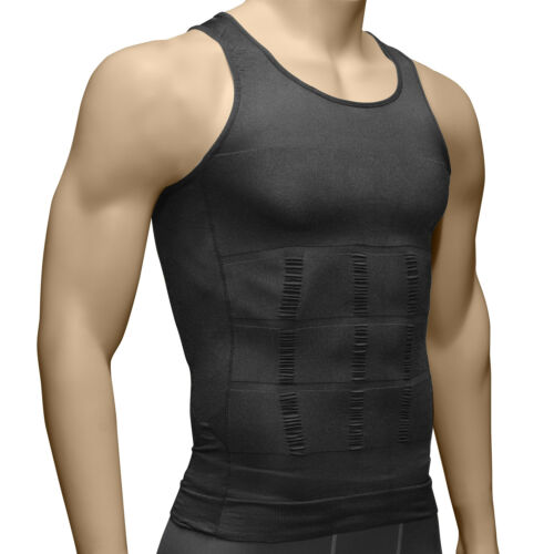 US Mens Slimming Shirt Body Shaper Vest Compression Tank Top Corset Shapewear