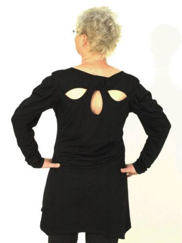 46 48 30/% Shirt Abend Tunika schwarz von Mat Gr Party Rosendruck