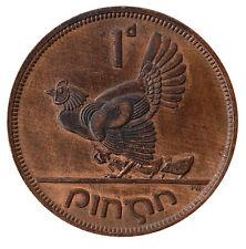 1942 Ireland Pingin -  Penny Bronze aUNC Coin RED