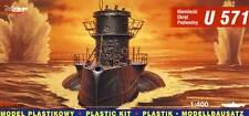 Mirage Deutsches U-Boot U-571 Modell-Bausatz 1:400 NEU OVP German Submarine kit