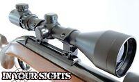 3-9x50 Airgun Riflescope + 11mm Mounts Red/green Reticle. Air Rifle Scope Sight