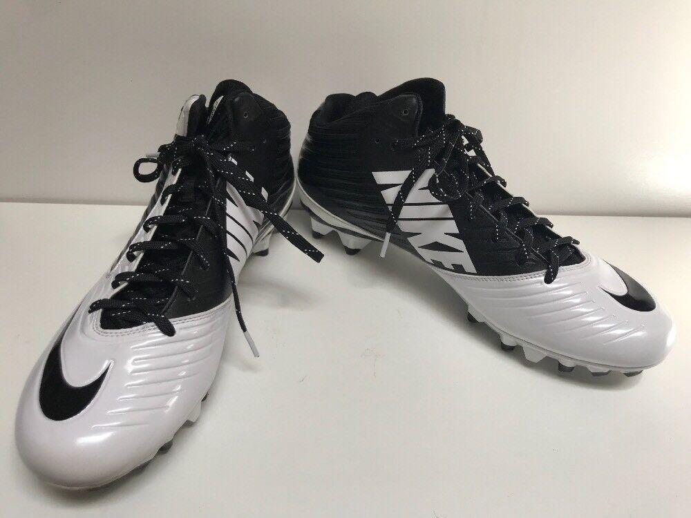 Casual wild Nike Vapor Speed Mens Black & White Football Cleats Comfortable