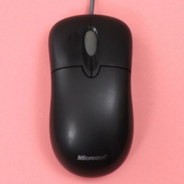 Genuine Microsoft USB Basic Optical Mouse 1.0A with PS/2 Adapter (Black)