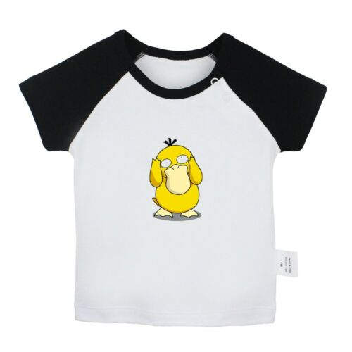 Funny Psyduck Newborn Baby T-shirts Infant Clothes Toddler Graphic Tee Vest