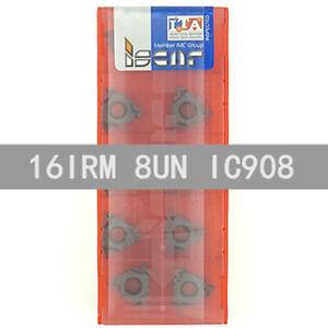ISCAR-16IRM-8UN-IC908-Threaded-blade-Carbide-Inserts-10Pcs