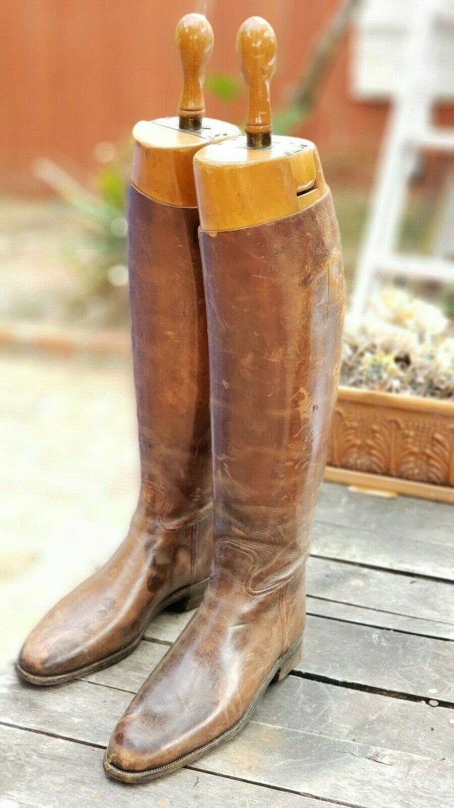 Antique Peal & Co Leather Riding Boots with Original Trees. Tennessee history.