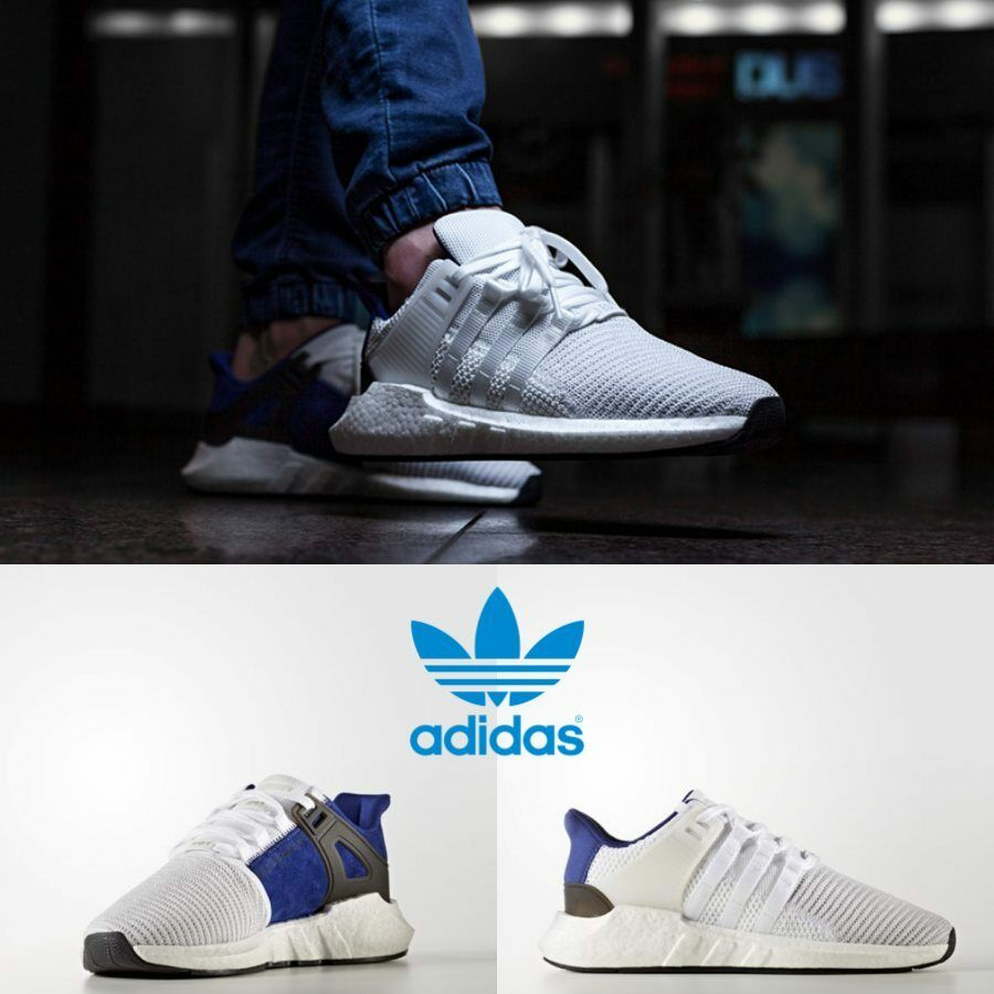 sports shoes 05de6 74812 Adidas Original EQT Support 93/17 Boost Sneakers White Royal ...