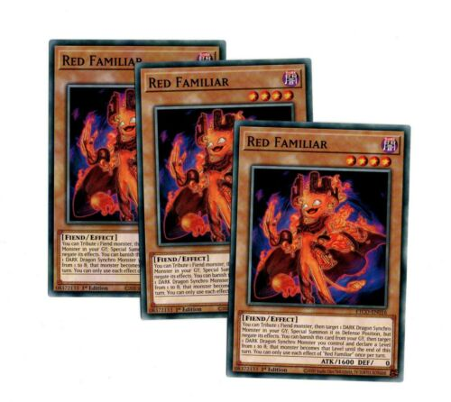 Common 1st Edition ETCO-EN016  RED  FAMILIAR    x  3 CARD  PLAYSET