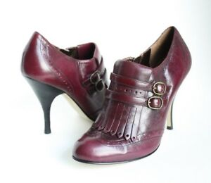 Enzo Angiolini Women's Fall Ankle Boots Stiletto Heels Size 6M Burgundy Wine