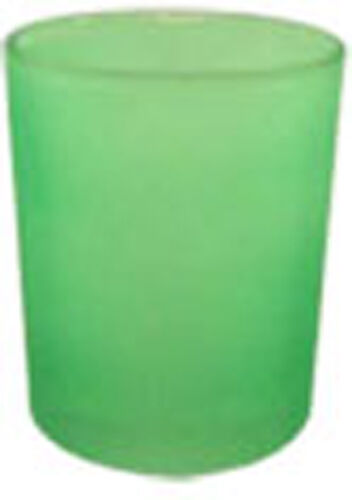 72 Frosted Glass Apple Green Event Party Wedding table decoration candle holders
