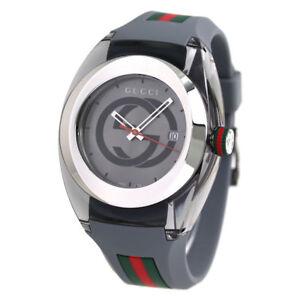 b293ec8eb39 Gucci SYNC YA137109 Grey Rubber Strap Men s Watch 731903363786