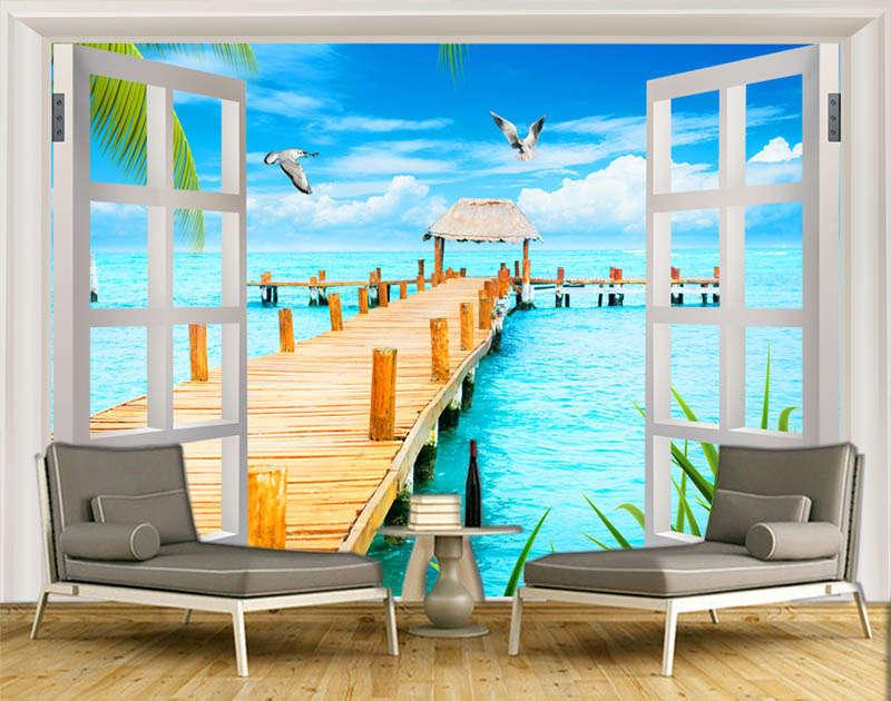 Elaborate Nice Beach 3D Full Wall Mural Photo Wallpaper Printing Home Kids Decor