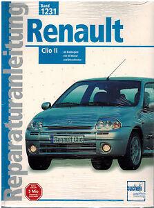 Buch-Reparaturanleitung-Renault-Clio-II-ab-Baubeginn-mit-8V-Motor-u-Dieselmotor