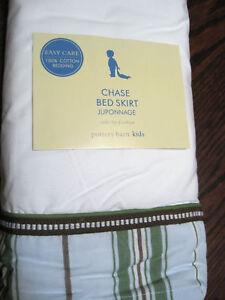 Pottery Barn Chase Bed Skirt Crib Bedding Pb Kids