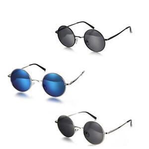 Runde-Metallrahmen-polarisierte-Sonnenbrille-Damen-Herren-Brille-Brillen-UV400