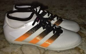 ADIDAS Ace 16.2 Primeknit FG AG White Orange Black Soccer Cleats ... 3eda74f8dc