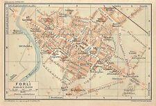 Carta geografica antica FORLI' Pianta della città 1916 Old antique map