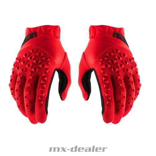 100/% percentuale Airmatic Guanti ROSSO MTB DH MX Motocross Enduro Quad BMX