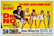 "JAMES BOND - DR. NO - MOVIE POSTER 18"" X 12"" SEAN CONNERY"
