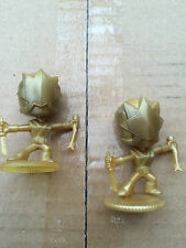 Power Rangers super samurai gold ranger mini figure with stand - one supplied