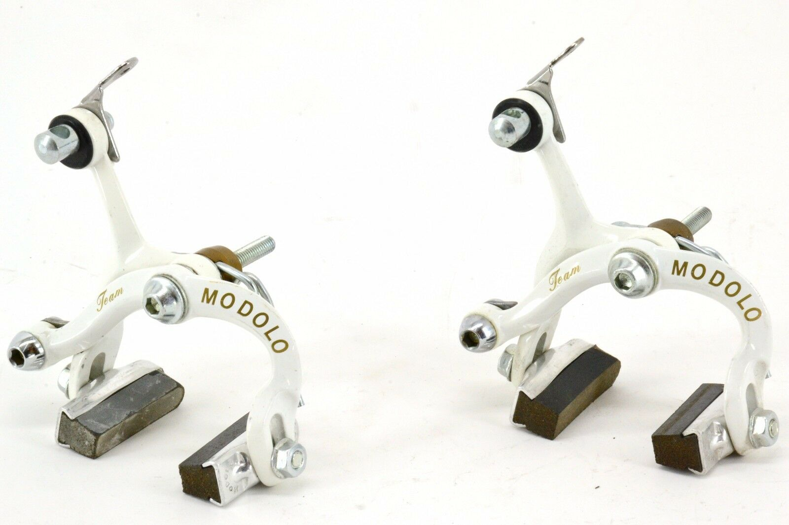 Modolo 'Team'  White Road Brake Set 1980s Made in  Vintage Colnago Masi TDF  official authorization